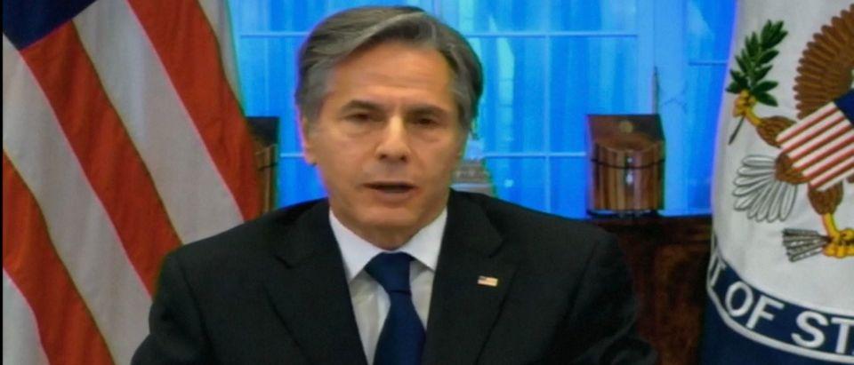 Secretary of State Tony Blinken. Screenshot/Youtube