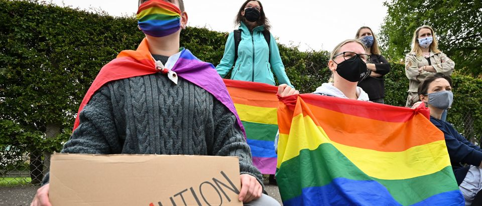 LGBT-Rights Protest At Polish Consulate In Edinburgh