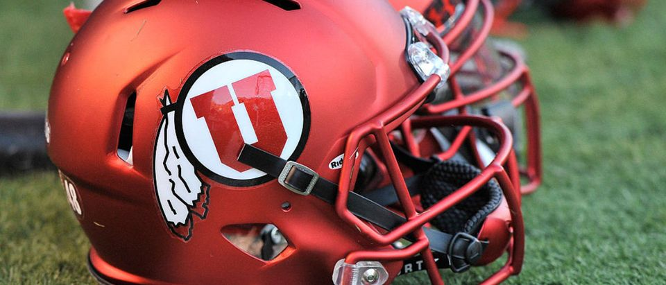 SALT LAKE CITY, UT - SEPTEMBER 3: Close up view of the new satin red football helmets worn by the Utah Utes during their game against the Michigan Wolverines at Rice-Eccles Stadium on September 3, 2015 in Salt Lake City, Utah. (Photo by Gene Sweeney Jr/Getty Images)