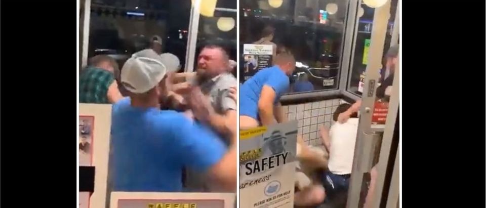 Waffle House Fight (Credit: Screenshot/Twitter Video https://twitter.com/nkrankie/status/1440624820706627596)