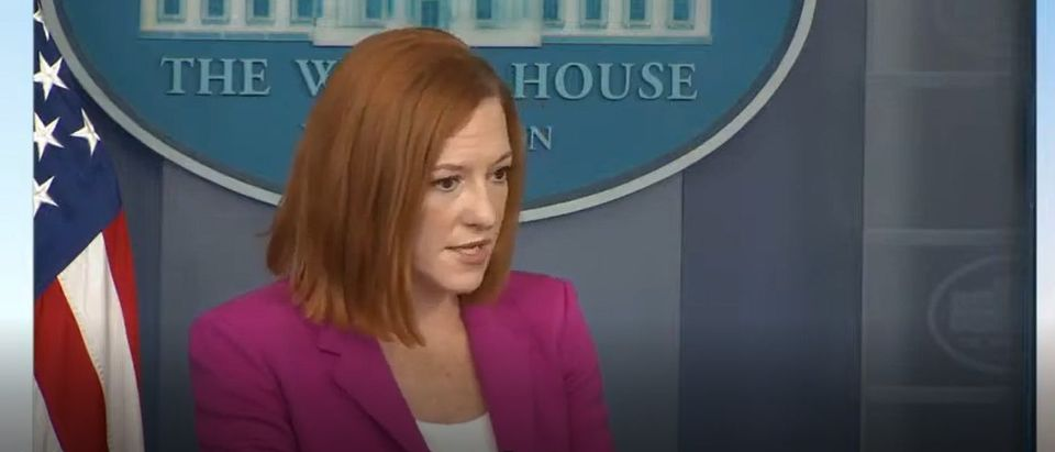 White House Press Sec. Jen Psaki says horseback Border Patrol units will no longer be used in Del Rio, Texas [Youtube Screenshot White House]