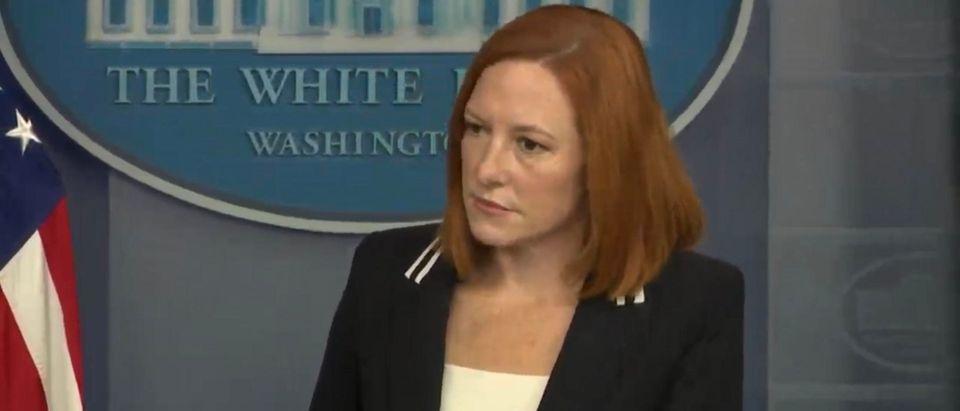 White House Press Secretary Jen Psaki. (Screenshot/YouTube)