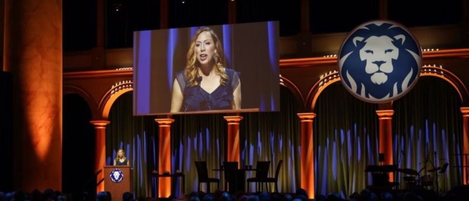 Kimberley Strassel, columnist at The Wall Street Journal, speaks at the Bradley Foundation's 17th Bradley Prizes ceremony. (Photo provided by the Bradley Foundation)