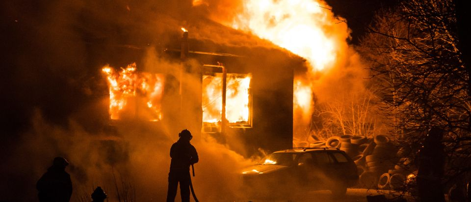 Violent fire in building. This image does not depict the fire mentioned in the story. [Shutterstock/Christian.dk]