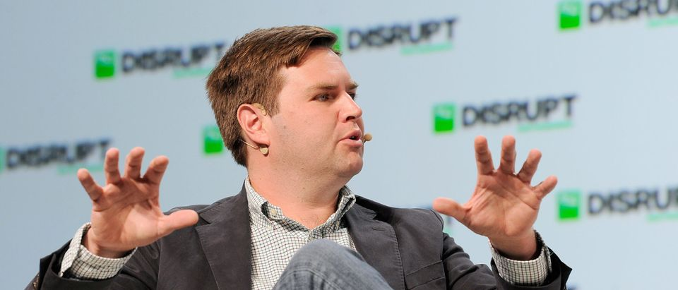 Rise of the Rest Seed Fund managing partner J.D. Vance speaks onstage during Day 2 of TechCrunch Disrupt SF 2018 at Moscone Center on September 6, 2018 in San Francisco, California. (Photo by Steve Jennings/Getty Images for TechCrunch)