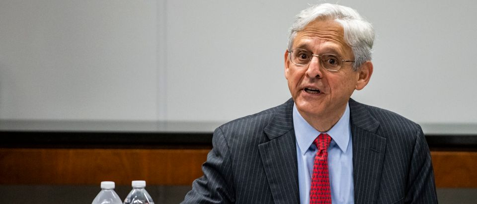 U.S. Attorney General Merrick Garland meets with law enforcement leadership and Illinois-area Strike Force Teams at the U.S. Attorney's Office on July 23, 2021 in Chicago, Illinois. (Photo by Samuel Corum-Pool/Getty Images)