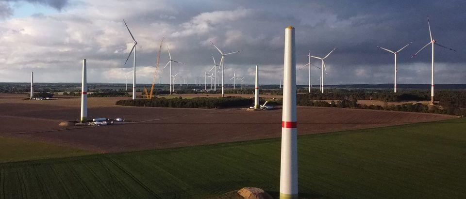 Wind Farm Under Construction