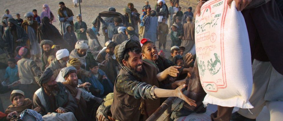 Afghan Refugees Desperate for Food and Aid