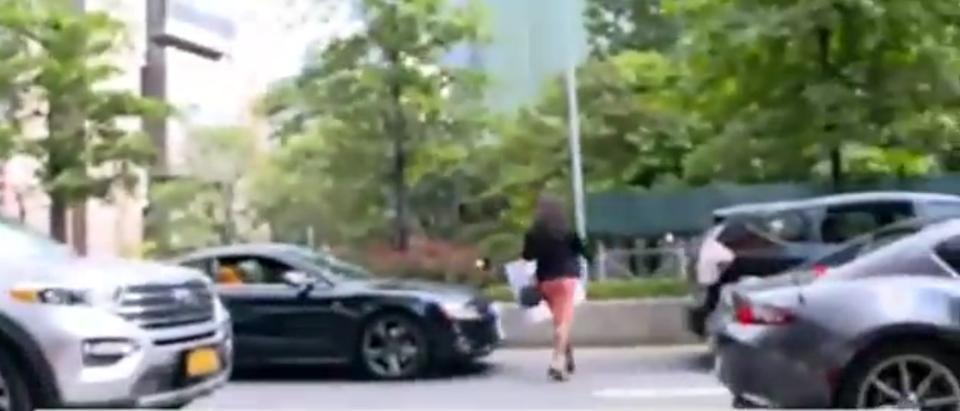 Screenshot 2021-10-06 12.43.15 Assemblywoman Rodneyse Bichotte Hermelyn walking into traffic