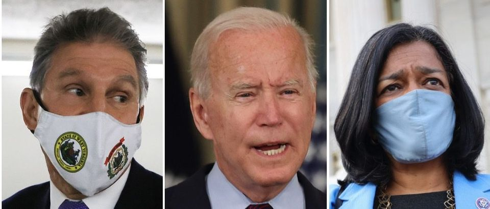 Pres. Biden's economic agenda is being threatened by issues over the Hyde Amendment. (Chip Somodevilla/Getty Images, Chip Somodevilla/Getty Images, Kevin Dietsch/Getty Images)